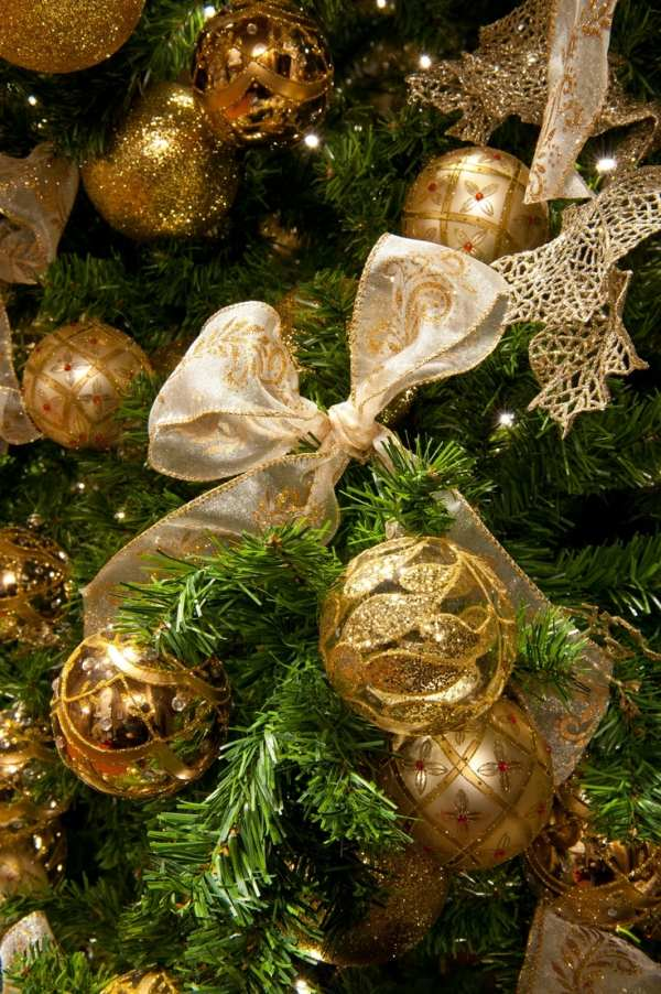 Gold Christmas Tree Decoration Ribbon