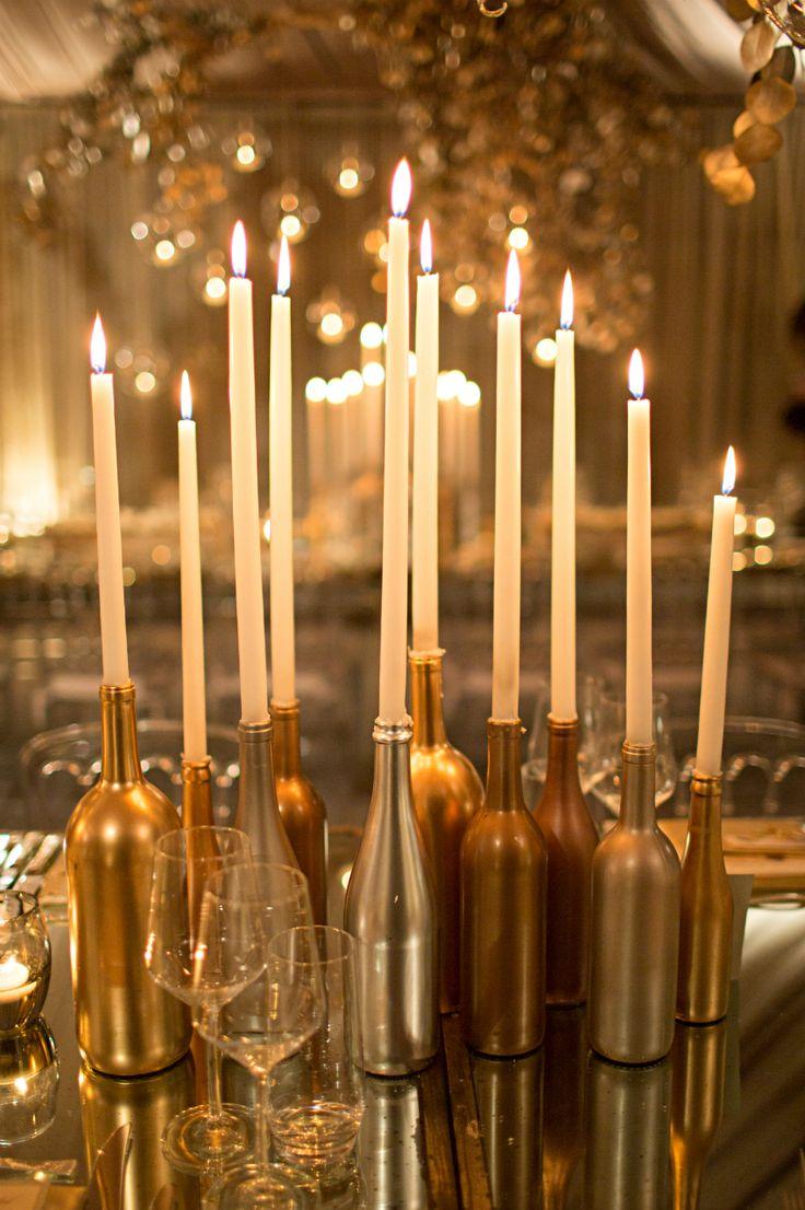 Metallic Christmas Table Scape