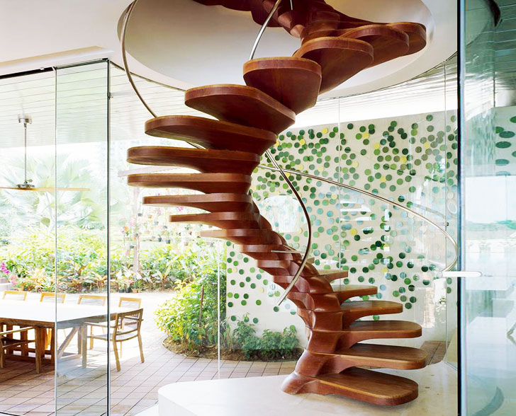Wooden Spiral Staircase (1)