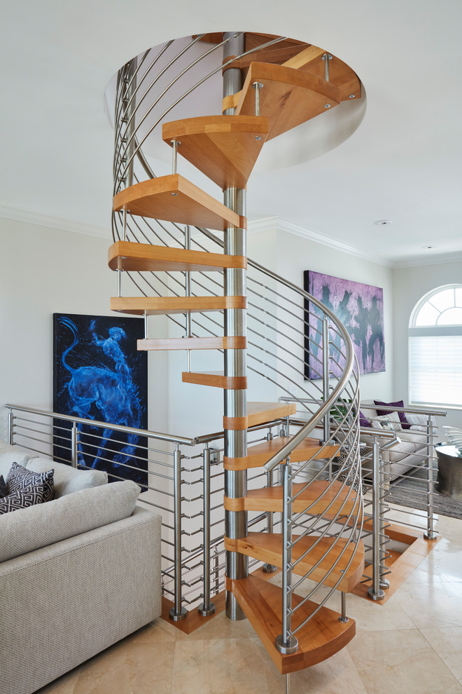 Wooden Spiral Staircase (10)