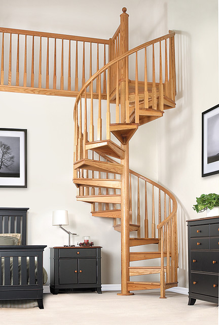 Wooden Spiral Staircase (11)