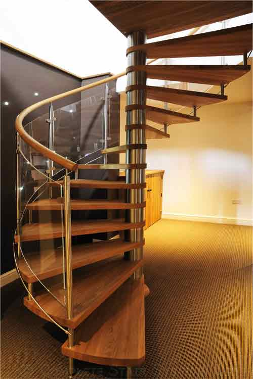 Wooden Spiral Staircase (20)