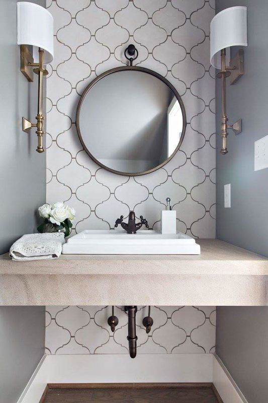 modern+Moroccan+powder+room