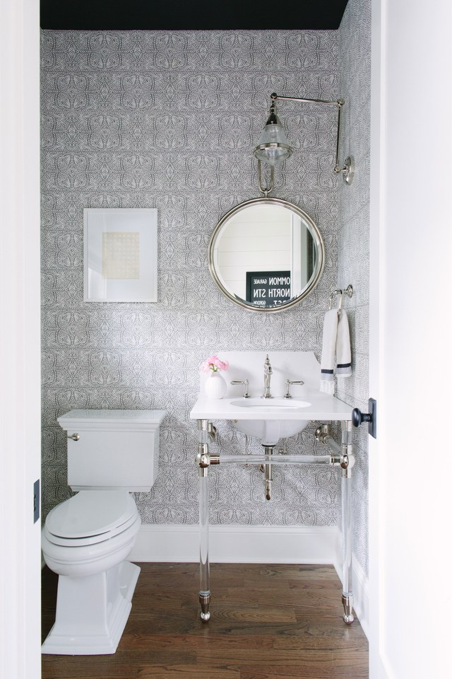 silver-printed-contemporary-powder-room