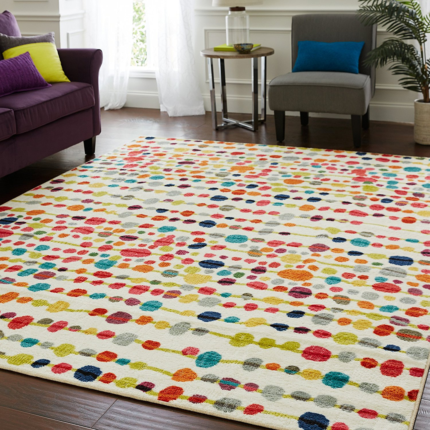 Delerus Dotted Printed Rug Thewowdecor