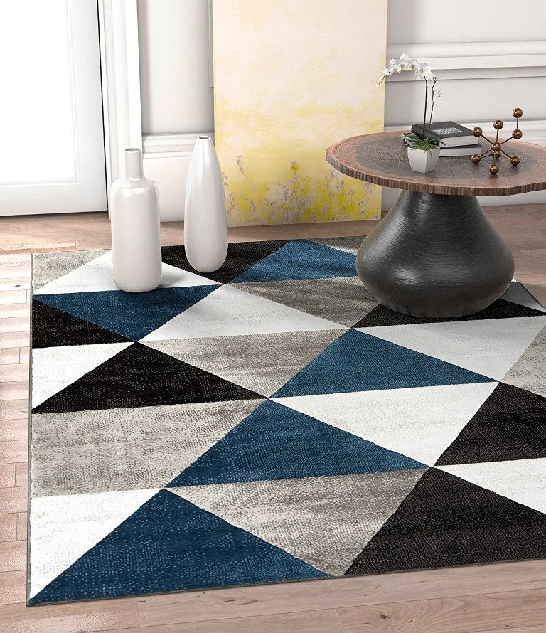 Modern Triangle Pattern Rug Thewowdecor
