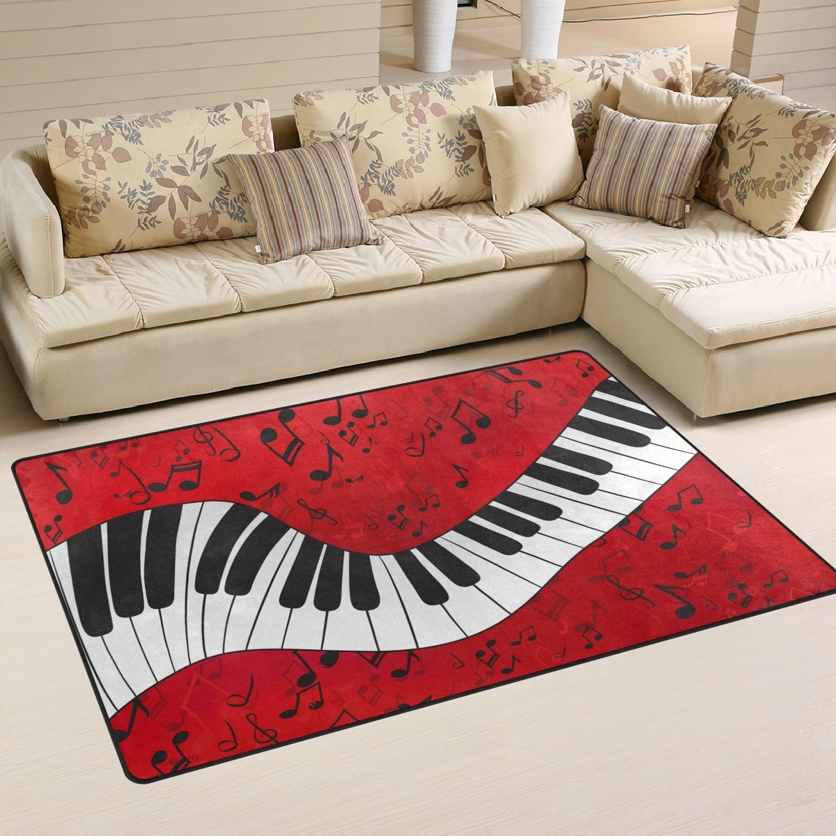 Music Theme Colorful Rug Thewowdecor