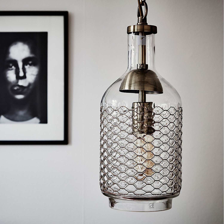 Vintage Hand Blown Glass Pendant Light Thewowdecor
