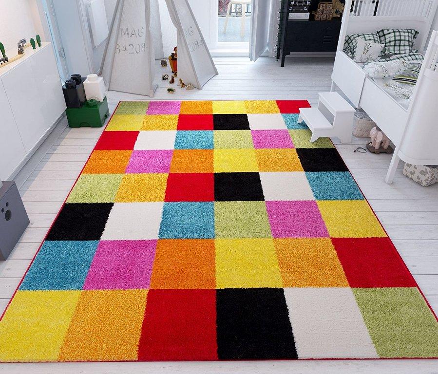 Woven Squares Soft Multi Geometric Accent Rug Thewowdecor