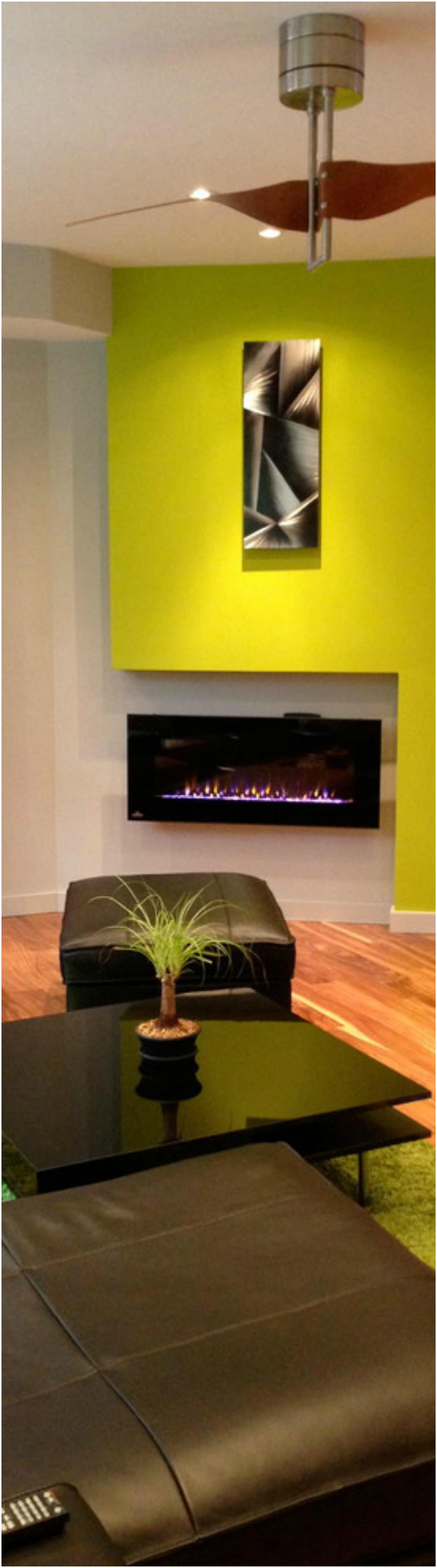 Basement Corner Fireplace Design