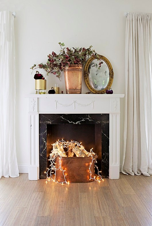 Bedroom Faux Fireplace
