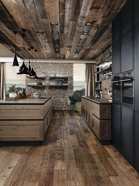 Industrial Oak Kitchen industrial-kitchen