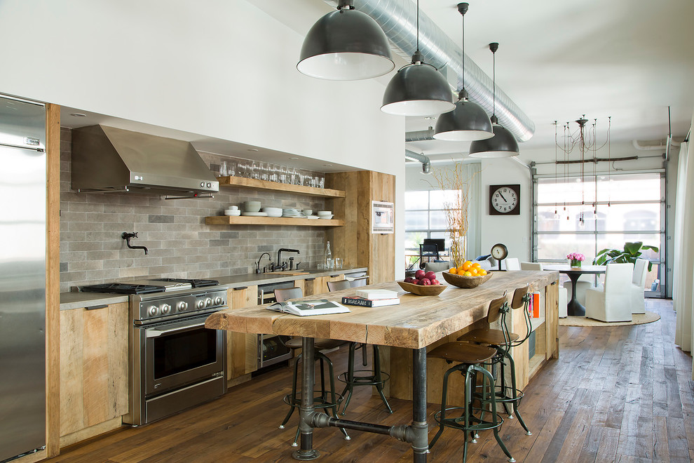 Kitchen remodel with reclaimed wood