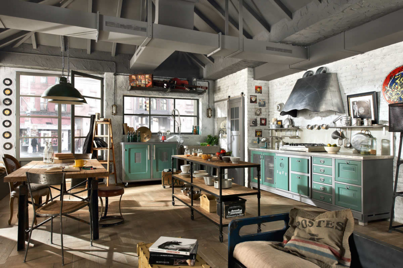 Large industrial kitchen style