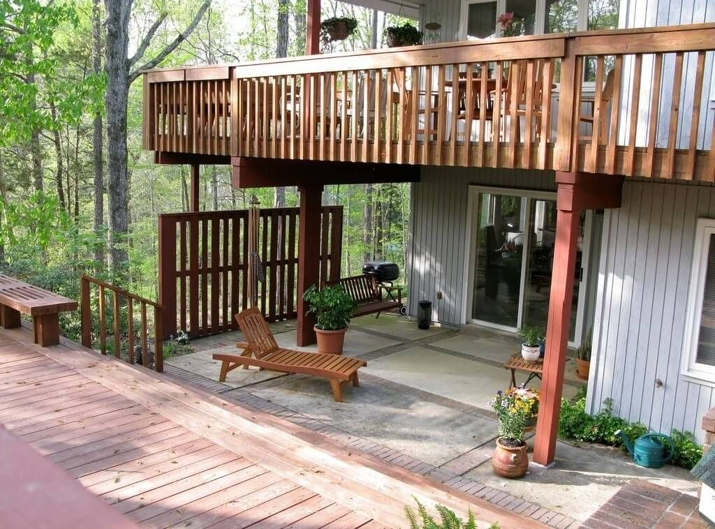 attractive balcony deck design ideas for modern home