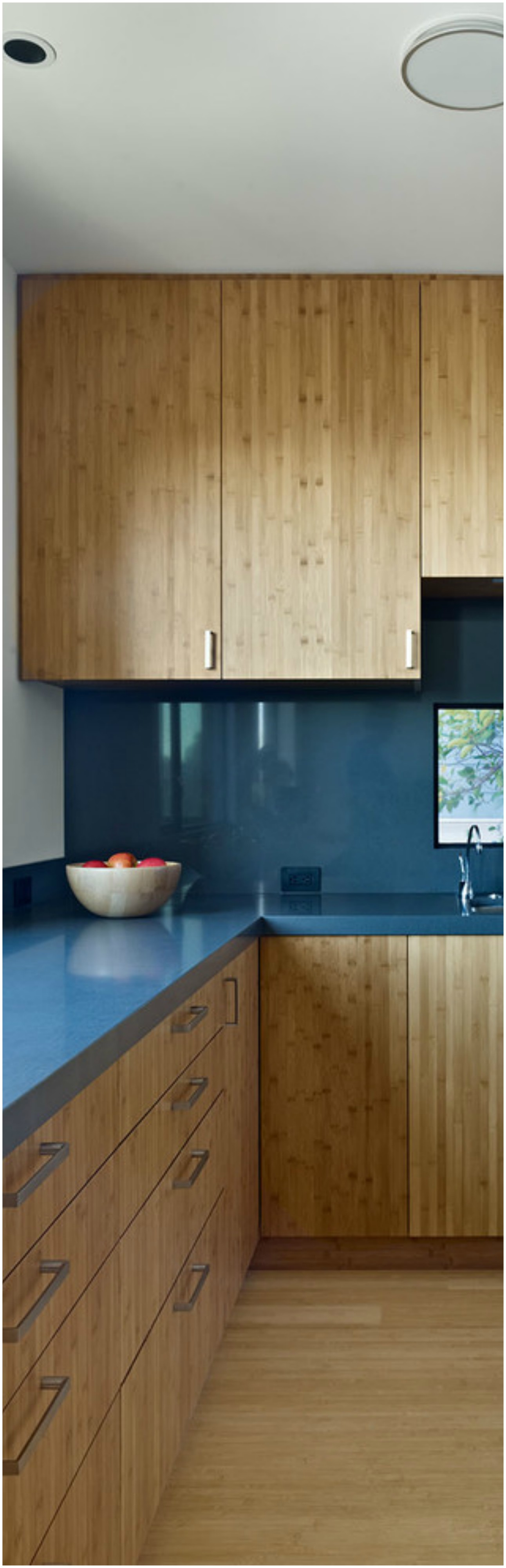 Modern Kitchen with Blue Countertops