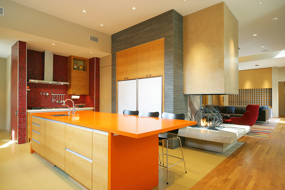 Orange Laminate Countertops