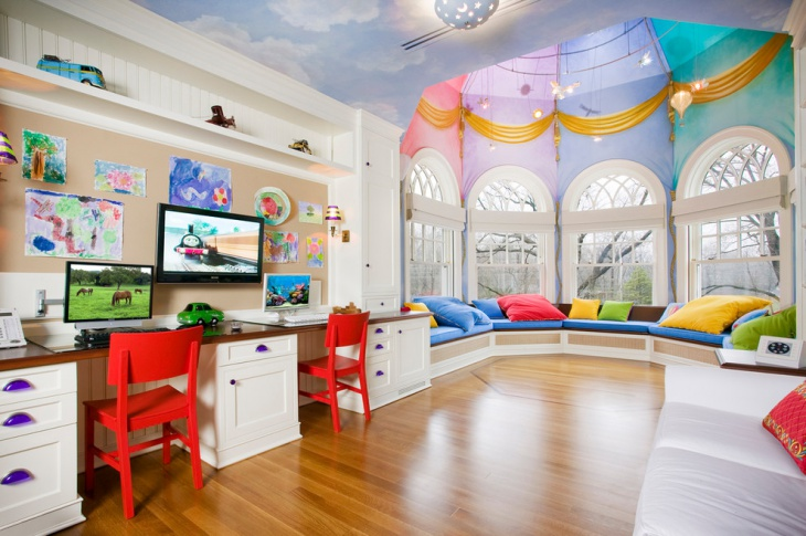 Attractive Kids Study Room (20)