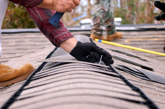 Overlay a new roof shingle
