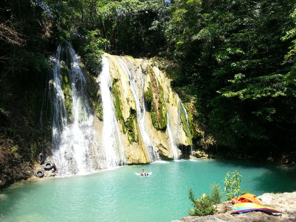 The Twin Falls Amidst Three Waterfalls