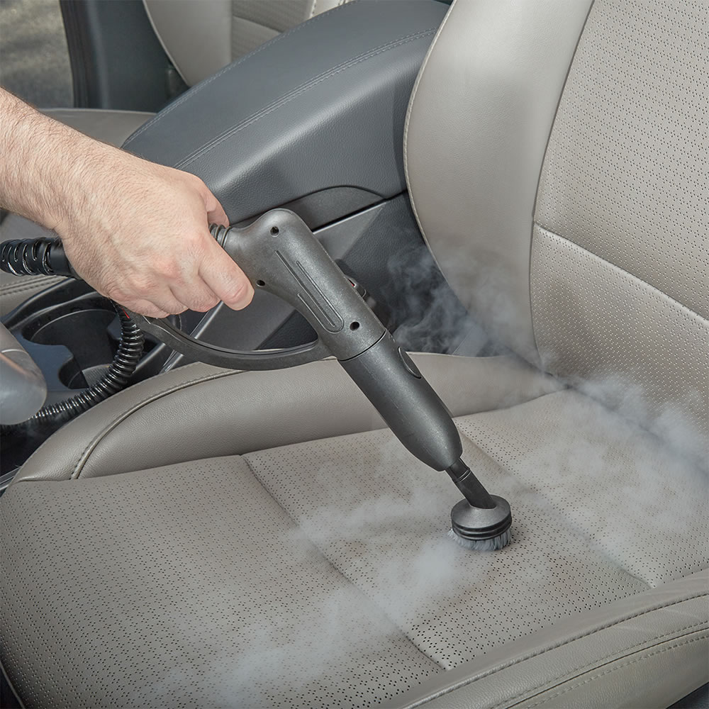Use the steam cleaner