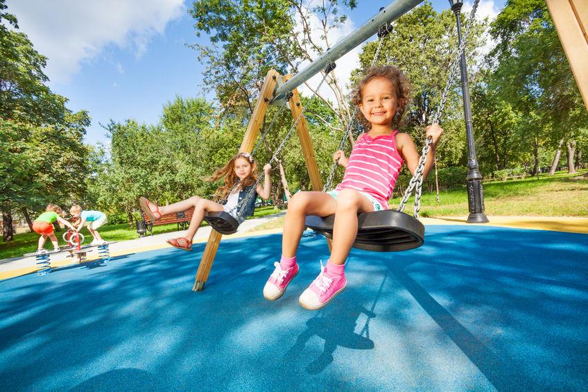 31135682 – kids swing on playground