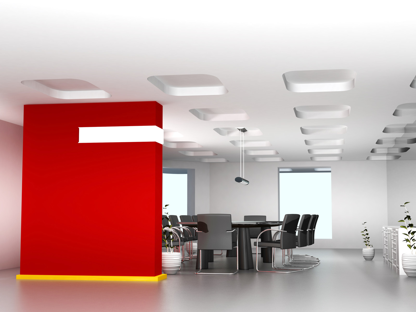 Commercial Painting throughout the office