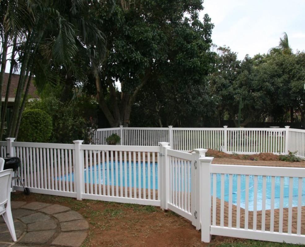 Wooden picket fences