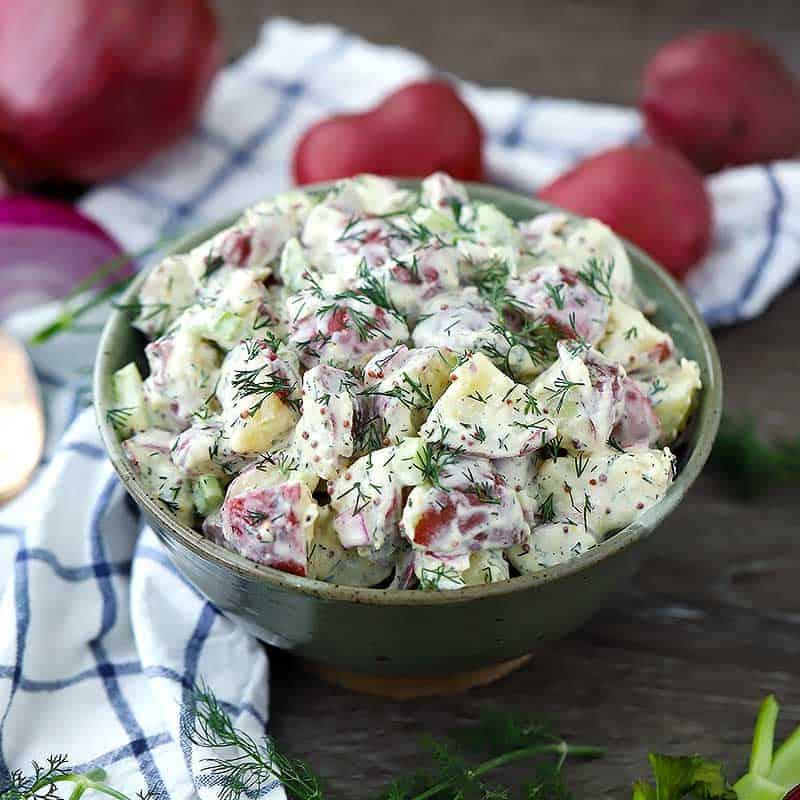 Add Dressing to Your Potato Salad