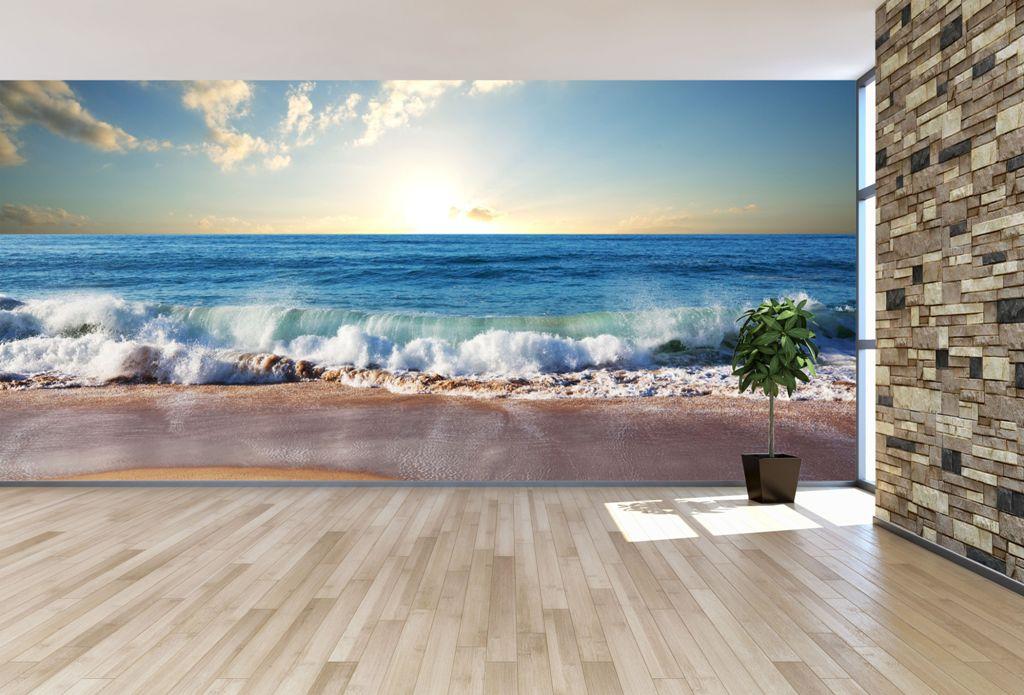 Beach Themed Wallpaper with Horizon