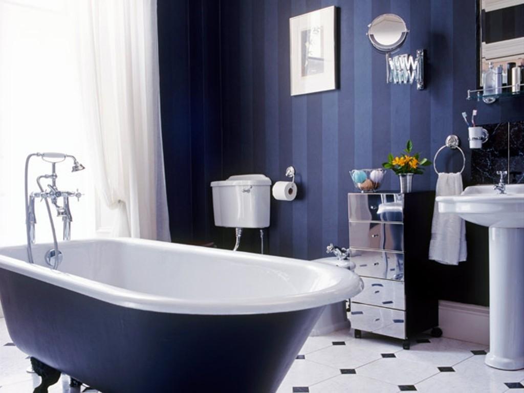 Blue Bathroom Decor Dark Blue Tile Bathroom 1429 Xtianlies