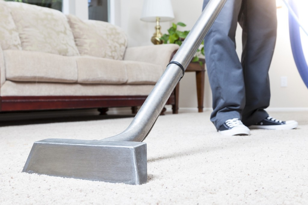 The noise from the carpet cleaner