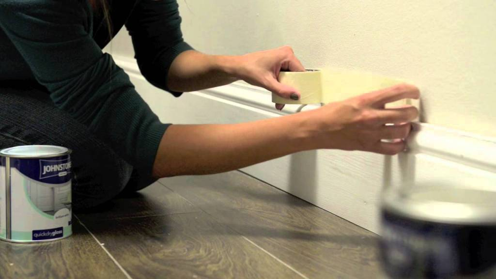 Painting skirting boards