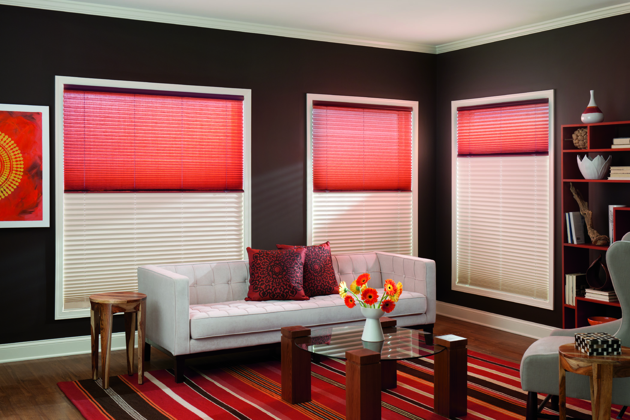Roman and Roller shades