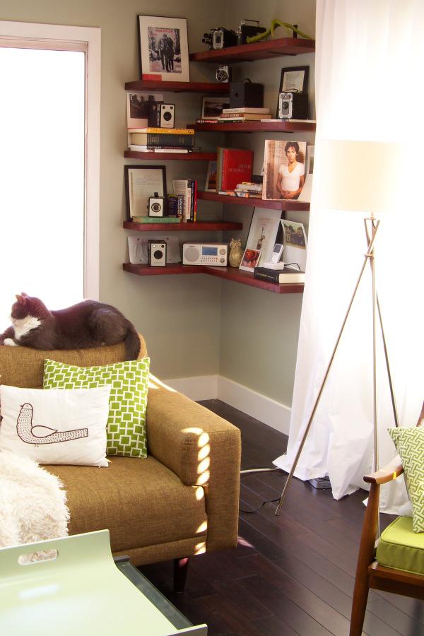 Corner Shelves for Extra Storage Space