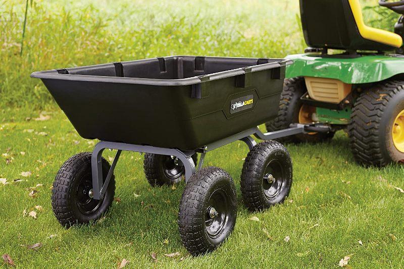 Gorilla Carts GOR6PS Heavy-Duty Poly Yard Dump Cart