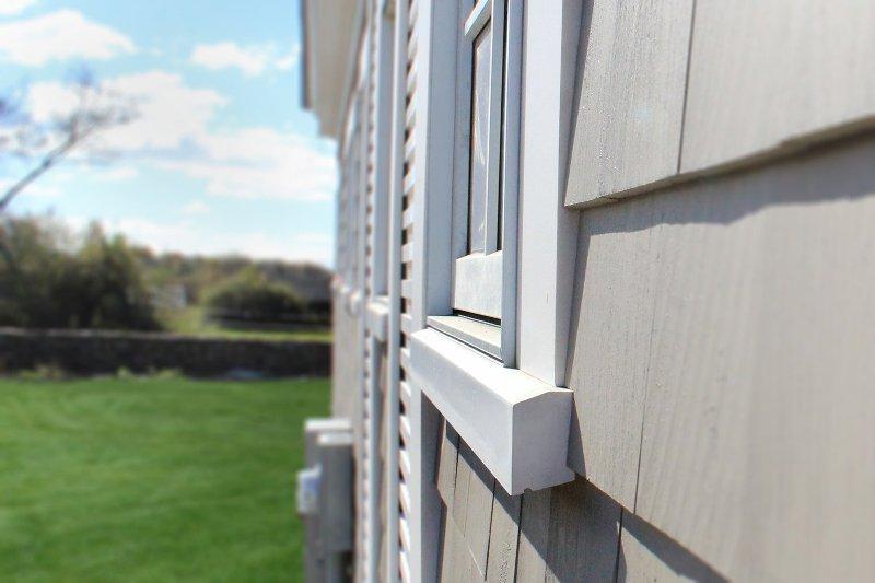 Caulk Around The PVC Window Sill