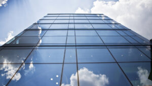 Installing Glass Panes on High-Rise Windows