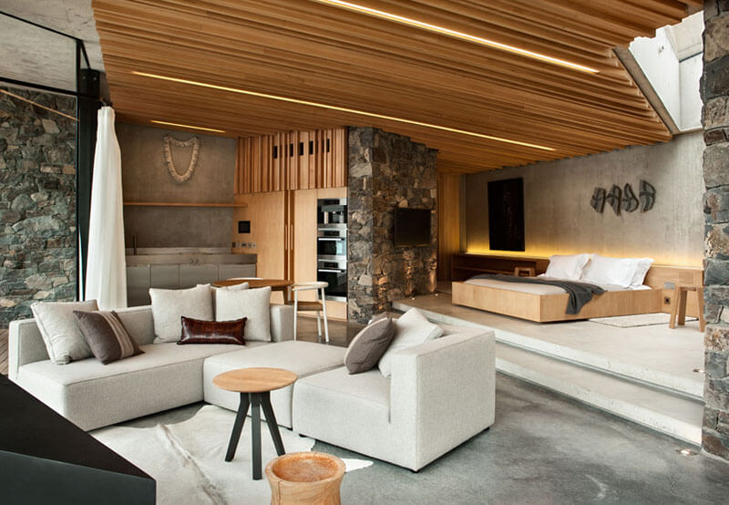 Creative ceiling construction with concealed lighting