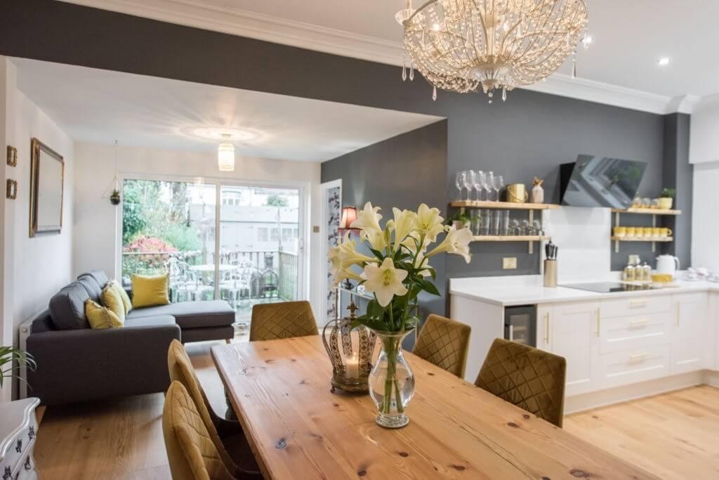 Oak wood living room