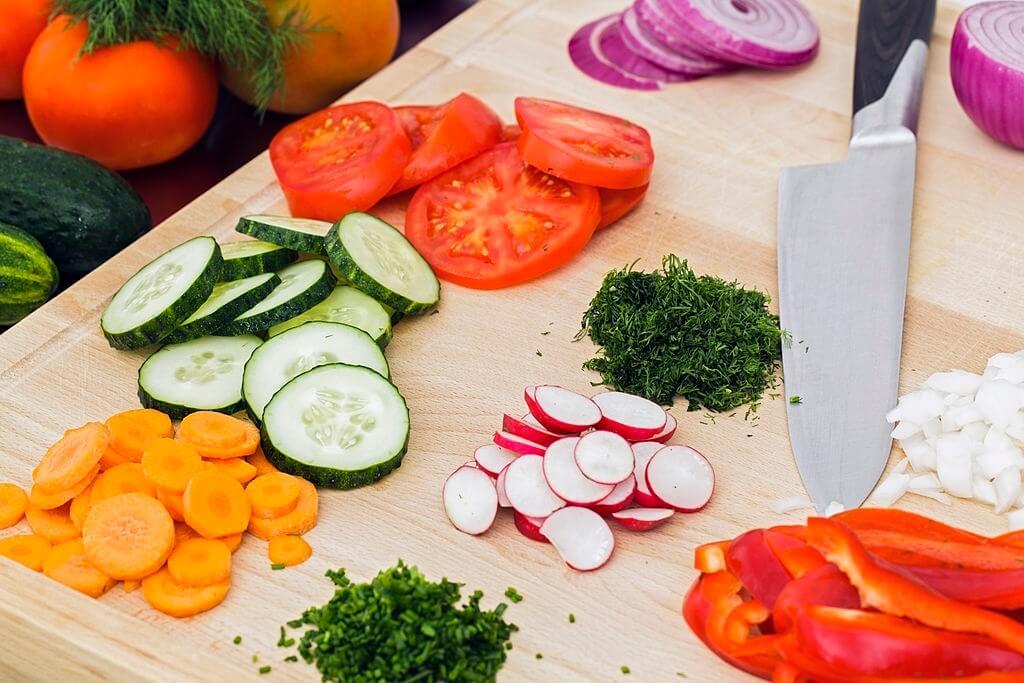 Peel and cut vegetables beforehand